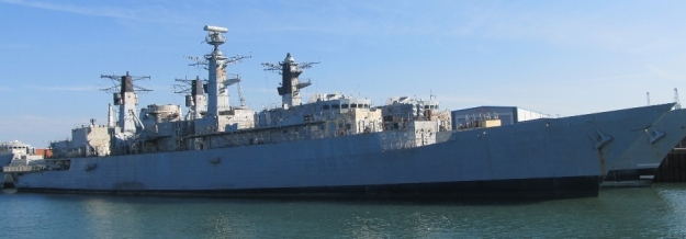 HMS Cornwall laid up at Portsmouth, 5 September 2013
