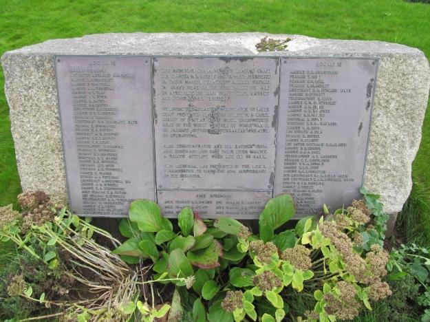 Memorial in Milford Haven cemetery