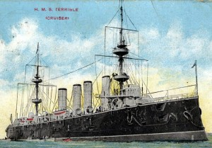 HMS Terrible: probably most famous for her part in the Boer War, when the heroics of her crew established the Royal Navy's field gun races.